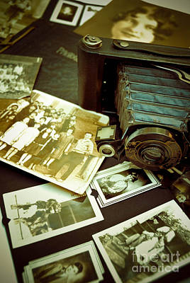 Antique Kodak Camera And Vintage Photographs Poster by Amy Cicconi