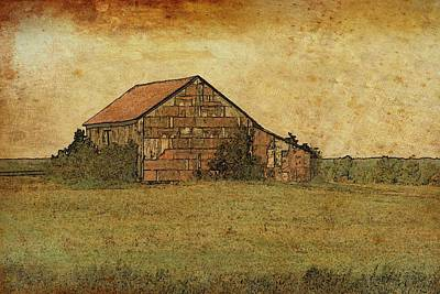 Antique Little Barn Poster