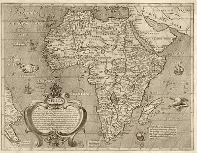 Antique Map Of Africa By Arnoldo Di Arnoldi - Circa 1600 Poster