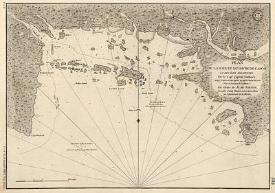 Antique Map Of Casco Bay And Portland Maine By Cyprian Southack - 1779 Poster by Blue Monocle