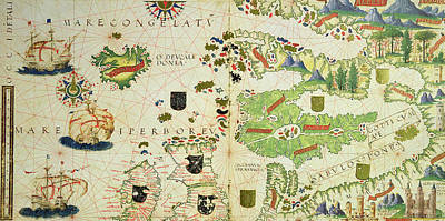 Antique Map Of Europe Poster by Pedro Reinel