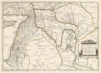 Antique Map Of The Middle East By Philippe De La Rue - 1651 Poster