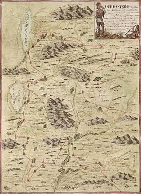 Antique Map Of Utah By Antonio Velez Y Escalante - 1777 Poster by Blue Monocle