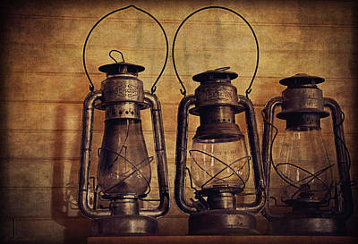 Antique Oil Lamps Poster by Maria Angelica Maira