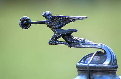 Antique Packard Automobile Hood Ornament Poster