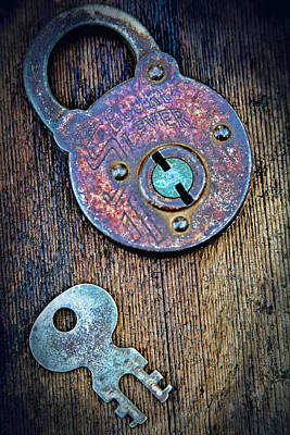 Antique Padlock Poster by Tony Grider