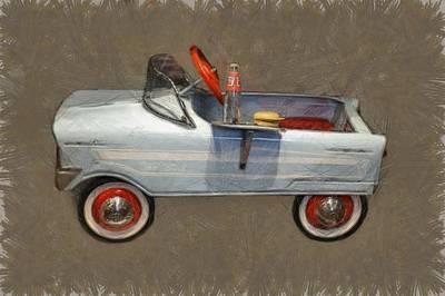 Antique Pedal Car Lv Poster by Michelle Calkins