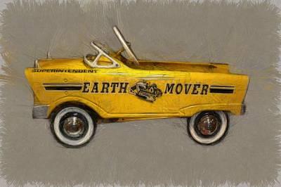 Antique Pedal Car Vl Poster by Michelle Calkins