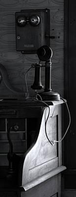 Antique Phone On Desk, Historic Poster