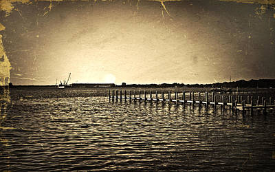 Poster featuring the photograph Antique Photo Of Pier  by Susan Leggett