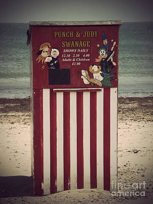 Antique Punch And Judy Poster by Linsey Williams