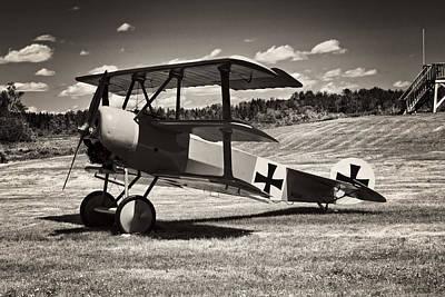 Antique Red Barron Fokker Dr.1 Triplane Poster by Keith Webber Jr