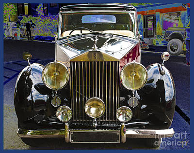 Poster featuring the digital art Antique Rolls Royce by Victoria Harrington