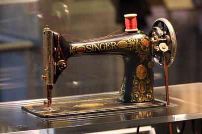 Antique Sewing Machine  Poster by Vadim Levin