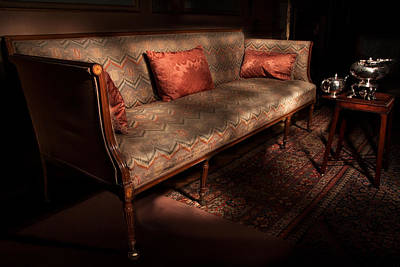 Antique Sofa And Tea Set Paxton House Poster by Niall McWilliam