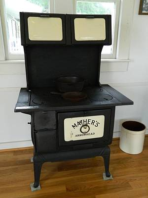 Antique Stove - Mather's Arrowhead Poster by George Pedro
