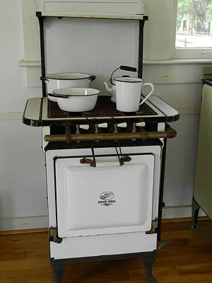 Antique Stove Number 3 Poster by George Pedro