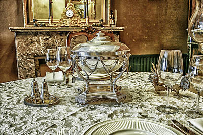 Antique Table Setting Poster