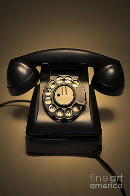 Antique Telephone Poster by Diane Diederich