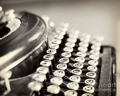 Antique Typewriter Poster