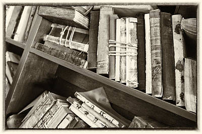 Antique Vintage Hardcover Books Poster