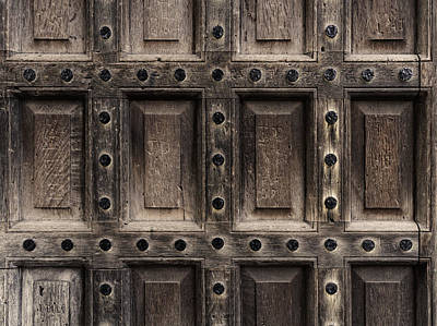 Antique Wooden Door Closeup Poster