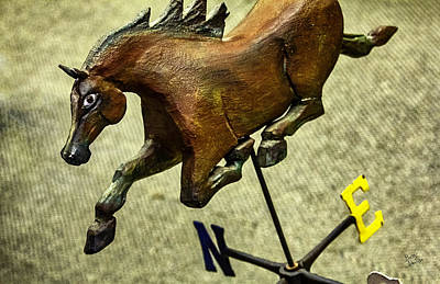 Antique Wooden Horse Weathervane Poster by Betty Denise
