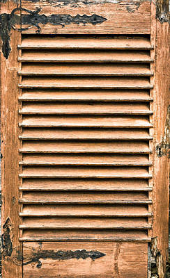 Antique Wooden Shutter Poster by Tom Gowanlock