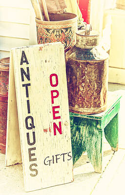 Antiques And Gifts Poster