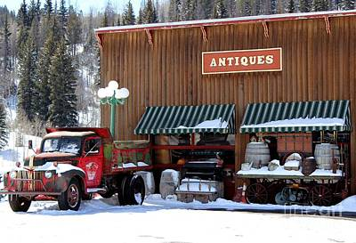 Antiques In The Mountains Poster by Fiona Kennard