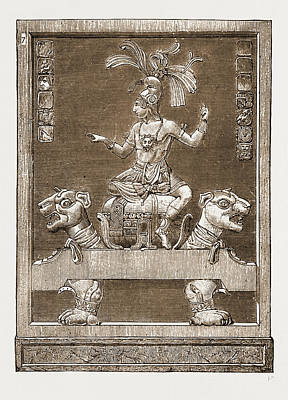 Antiquities Of Central America Specimen Of Stucco Poster
