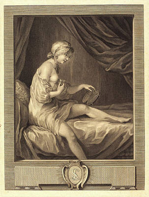 Antoine Francois Dennel After Gabriel Jacques De Saint-aubin Poster