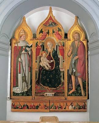 Antonio Da Fabriano, Enthroned Madonna Poster by Everett
