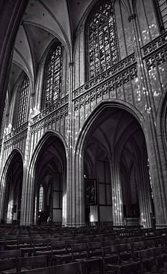 Antwerp Cathedral Poster by Joan Carroll