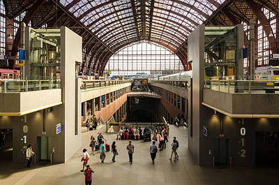 Antwerp-centraal Station Poster