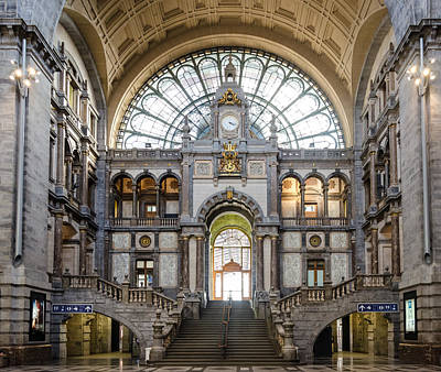 Antwerp Central Station Poster