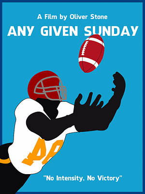 Any Given Sunday Minimalist Movie Poster Poster by Celestial Images