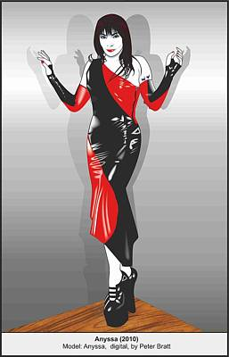 Anyssa In Latex Poster