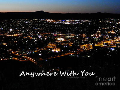 Poster featuring the digital art Anywhere With You by Angelia Hodges Clay
