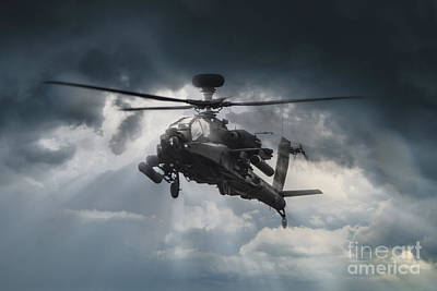 Apache Gunship Poster by J Biggadike