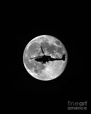 Apache Moon Vertical Poster by Al Powell Photography USA