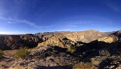 Apache Trail Overlook Panorama January 9 2013 Poster by Brian Lockett