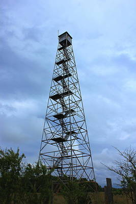 Apalachee Fire Tower In Morgan County Poster