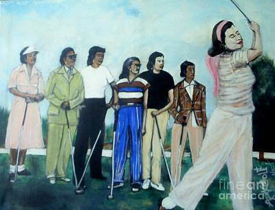 Apex Golf Poster by Tyrone Hart