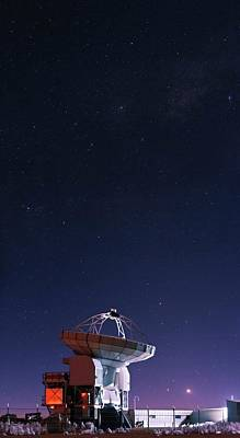 Apex Radio Telescope And Night Sky Poster by Babak Tafreshi