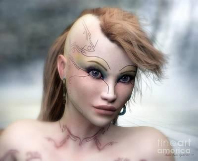 Poster featuring the digital art Aphrodite by Sandra Bauser Digital Art
