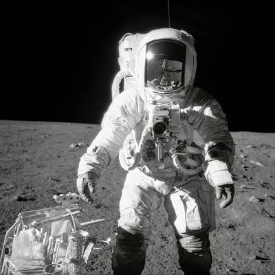 Apollo 12 Moonwalk - 1969 Poster