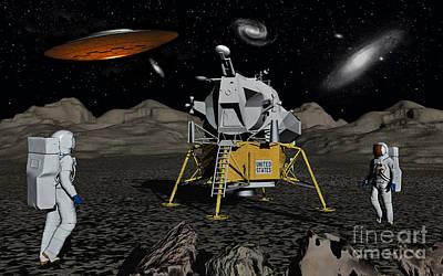 Apollo Astronauts Coming Into Contact Poster by Mark Stevenson