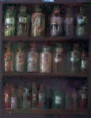 Apothecary Bottles Poster by Paez  Antonio