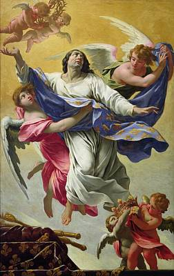 Apotheosis Of St. Louis, 1639-42 Oil On Canvas Poster by Simon Vouet